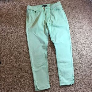 Forever 21 Mint Green Jeans